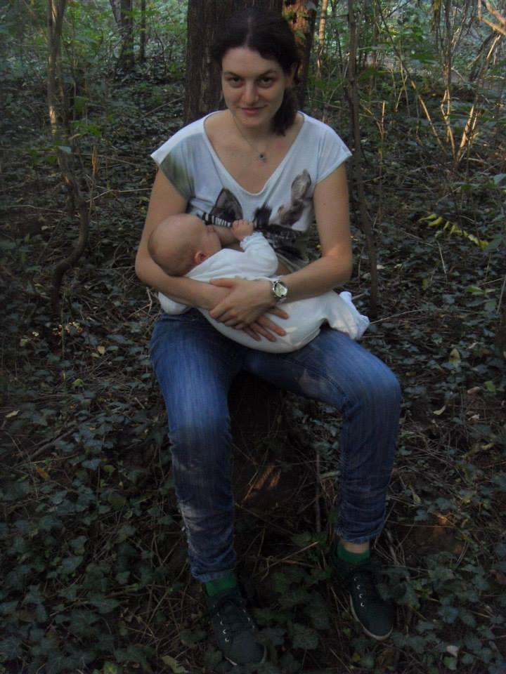 Fotografija 56: Helena Milutinović i beba Petar Janjević.